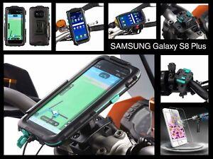 Custodia moto samsung S8 Plus + Tracolla + Pellicola Protettiva + Sgancio Rapido