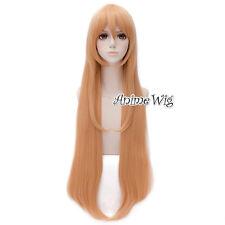 Light Orange Long Straight Anime Himouto! Umaru-chan Doma Umaru Cosplay Wig+Cap