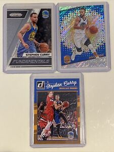 Stephen Curry 3 Card Lot 2017 Panini Prizm Revolution 2016 Donruss Warriors