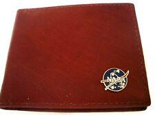 NASA Brown Cowhide Italian Leather Bifold  Wallet