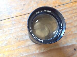 """Vintage Bell & Howell 16mm  2"""" (51mm) f1.2 Fast Projector Lens"""