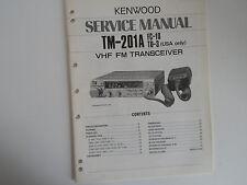 Kenwood (Trio) TM-201A (Solo Manual De Servicio)... radio _ trader _ Irlanda.