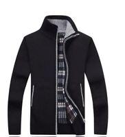 Men's Sweaters Autumn Winter Warm Cashmere Wool Zipper Pullover Sweaters