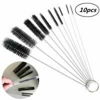 Nylon Cleaning Brush Set Multi-function Straw Wash Brush Test Tube Cleaner 10pcs