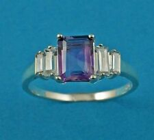 Solitaire Engagement Amethyst Fine Rings