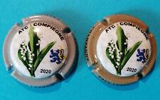 Capsules de Champagne Paul LEBRUN Cuvée ATC 2020 La série de 2 plaques