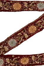 Vintage Indian Sari Border Used Trim 1 Yd Women Antique Sari Trim Ribbon ST2533