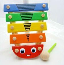 Xylophone abeille bois enfant 5 lamelles en bois et maillet 20 x 18 x 5 cm