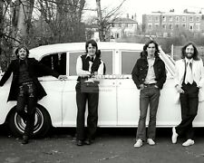 THE BEATLES STAND IN FRONT OF JOHN LENNON'S ROLLS ROYCE - 8X10 PHOTO (ZY-956)