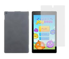 Smoke TPU Skin Case and Screen Protector for Amazon Kindle Fire HD 8 2016