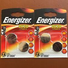 4 x Energizer CR2430 3 V batería de celda de moneda de litio 2430 DL2430 K2430L ECR2430