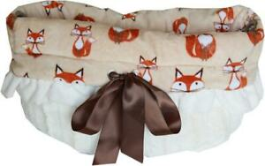 FOXY REVERSIBLE Snuggle Bugs Pet Bed, Bag, And Car Seat In One