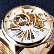 Watches Men Thin Small Dial Neutral Design Waterproof Skeleton Watch Stainless