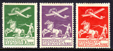 DENMARK AIR POST #C1-C3, 1925-26 SET/3, F, OG-HINGED