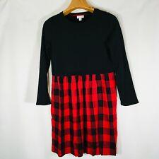 J Jill Dress Buffalo Plaid Womens XS Tunic sweatshirt top long sleeve   #00965I