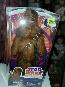 """Star Wars Forces of Destiny  11"""" ELECTRONIC ROARING CHEWBACCA FIGURINE 2017"""