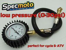USA Shipped Low Pressure Tire Pressure Gauge 0-30psi for ATV Motorcycle Bicycle