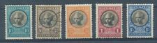 TIMBRE ZEGEL STAMP LUXEMBOURG CARITAS 192/196  X ET OBLITERES
