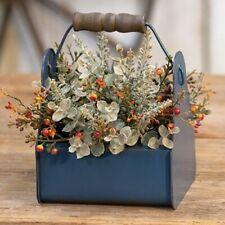 """RUSTY EUCALYPTUS BERRIES HALF SPHERE 10"""" Twig Floral Vine Country Primitive"""