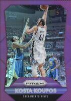 2015-16 Panini Prizm Prizms Purple Kings Basketball Card #97 Kosta Koufos /99