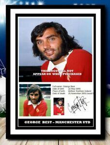 (511) george best manchester utd legend signed photograph unframed/framed pp @@@