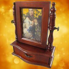 Schmuckschatulle Spiegel -Foto Mahagoni 30 cm Vintage Designer Geschenk Luxus