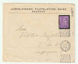 Yugoslavia 1934 Murder of King Alexander mourning issue on cover to Vienna