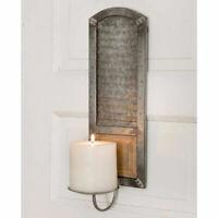 Primitive Metal Washboard Pillar Candle Holder Wall Sconce Farmhouse FREE SHIP