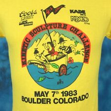 NOS vintage 1983 COORS LIGHT BEER COLORADO KINETIC CARTOON T-Shirt XXS thin 80s