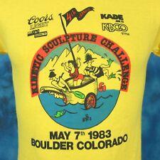 NOS vintage 1983 COORS LIGHT BEER COLORADO KINETIC CARTOON T-Shirt XXS thin 80s
