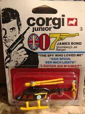 1976 CORGI JUNIOR JAMES BOND HELICOPTER STOMBERG'S JET RANGER SPY WHO LOVED ME
