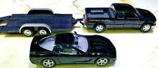 Maisto 1998 Chevrolet Silverado 1/27 & 1997 Chevrolet Corvette 1/24 w Trailer