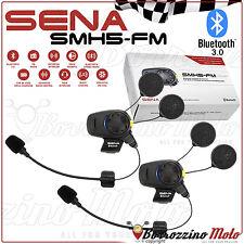 COPPIA INTERFONO SENA SMH5D-FM BLUETOOTH 3.0 MOTO/SCOOTER 700 MT CON RADIO FM