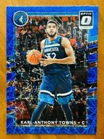 2017-18 Optic Karl Anthony Towns BLUE Velocity Prizm Card #89, Timberwolves!