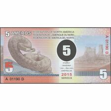 TWN - FEDERATION of NORTH AMERICA 5 Ameros 2015 UNC Polymer Private issue