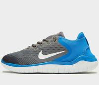 Nike Free Run 2018 Women ® ( UK Sizes: 5  &  5.5 ) Gunsmoke / Signal Blue NEW