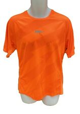 New NIKE RUN Mens DriFit Stay Cool Ventilated Top Shirt Orange M