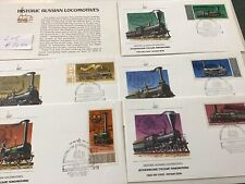 Russia 5 First Day Covers , Historic Locomotives,1978 Lot #5130