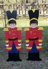 Toy Soldier Set Christmas Yard Art Decoration Wood Christmas Decor New