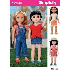 """Simplicity Sewing Pattern 8940 14"""" Doll Clothes Summer Style"""