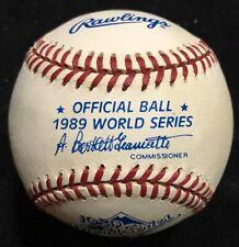 1989 Official World Series Baseball Athletics Rickey Henderson New In Box Mint
