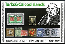 Turks & Caicos 396a S/S, MNH. Rowland Hill. Stamp on Stamp, 1979