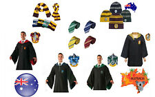 Harry Potter Gryffindor Ravenclaw Slytherin Robe&Tie&Scarf Adult Cosplay Costume