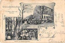 CPA ALLEMAGNE GRUSS AUS HAMBURG HAMM E.RITTER'S CLUB UND BALLHAUS
