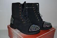 Botte / bottine /chaussure montante noir strass fourrée T 39