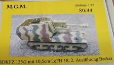 MGM 080-044 1/72 Resin WWII German SDKFZ 135/2 w/ 10.5cm LeFH 18.2-Design Becker