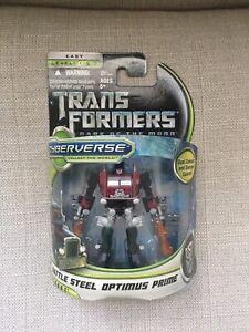 Transformers Cyberverse Dark Of The Moon Battle Steel Optimus Prime Legends
