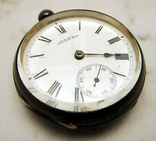 Antique Waltham Large Key Wind Pocket Watch Possible Silver Case Thick Crystal