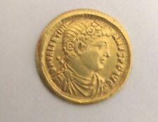 More details for valens gold solidus restitvtor. reipvblicae. emperor holding victory on globe.