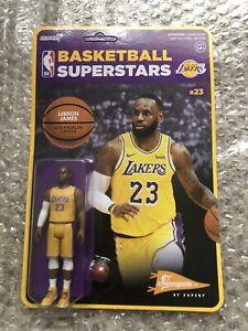 Super7 NBA Reaction Lebron James (Yellow Lakers Jersey) Retro Style Figure